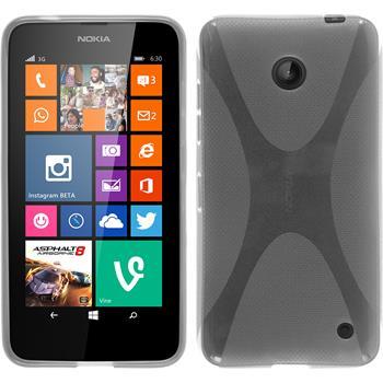 Silicone Case for Nokia Lumia 630 X-Style transparent