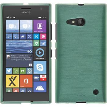 Silikon Hülle Lumia 730 brushed grün