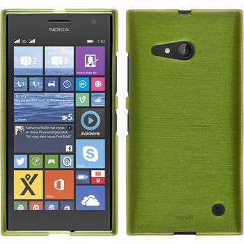 Silikon Hülle Nokia Lumia 730 brushed pastellgrün + 2 Schutzfolien
