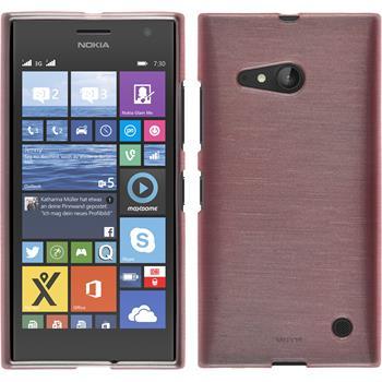 Silikon Hülle Lumia 730 brushed rosa