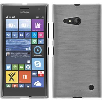 Silikonhülle für Nokia Lumia 730 brushed weiß