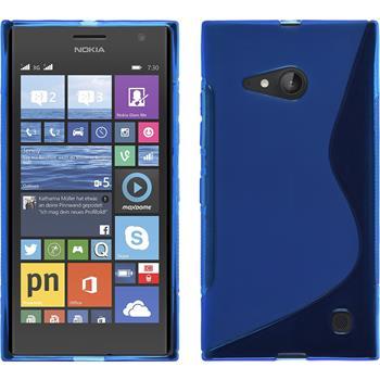 Silikonhülle für Nokia Lumia 730 S-Style blau