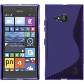 Silikon Hülle Lumia 730 S-Style lila