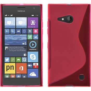 Silikon Hülle Lumia 730 S-Style pink