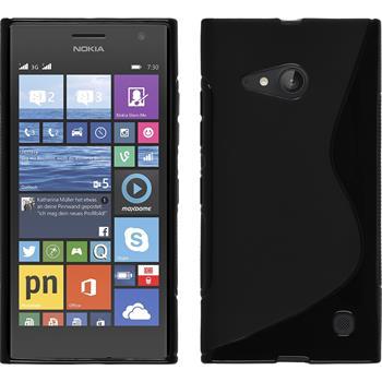 Silikon Hülle Lumia 730 S-Style schwarz