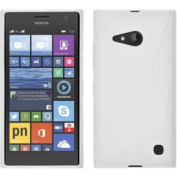 Silikon Hülle Lumia 730 S-Style weiß