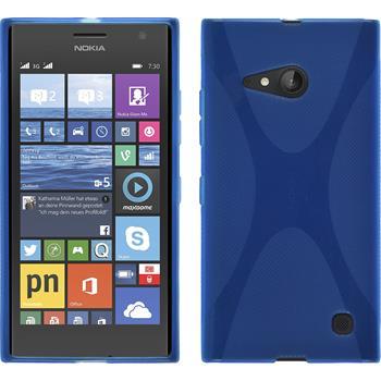 Silikon Hülle Lumia 730 X-Style blau