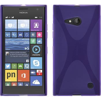 Silikon Hülle Lumia 730 X-Style lila