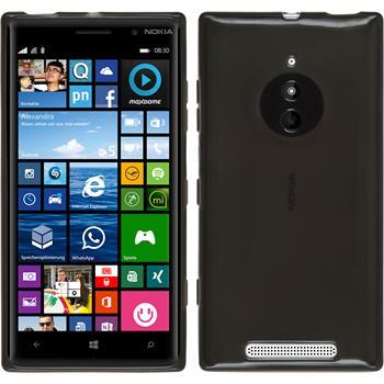 Silikon Hülle Lumia 830 transparent schwarz