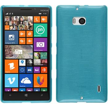 Silikon Hülle Nokia Lumia 930 brushed blau + 2 Schutzfolien