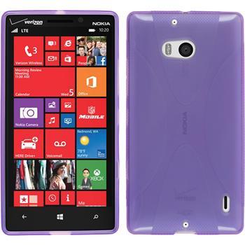 Silikonhülle für Nokia Lumia Icon X-Style lila
