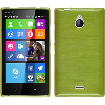 Silikon Hülle Nokia X2 brushed pastellgrün + 2 Schutzfolien