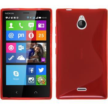 Silikonhülle für Nokia X2 S-Style rot