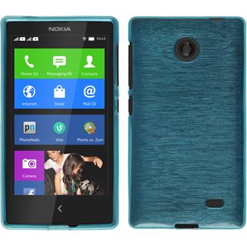 Silicone Case for Nokia X / X+ brushed blue