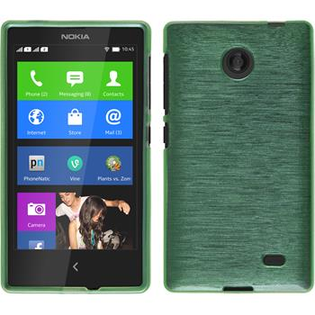 Silicone Case for Nokia X / X+ brushed green