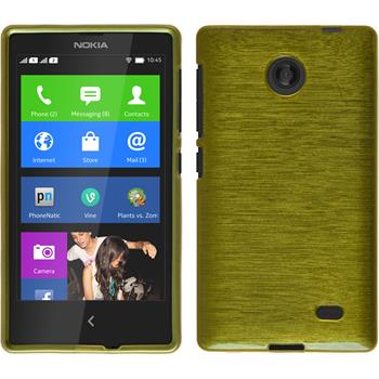 Silicone Case for Nokia X / X+ brushed pastel green