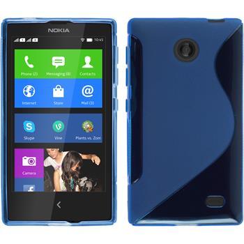 Silikonhülle für Nokia X / X+ S-Style blau