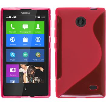 Silicone Case for Nokia X / X+ S-Style hot pink