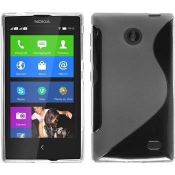 Silikon Hülle Nokia X / X+ S-Style clear + 2 Schutzfolien