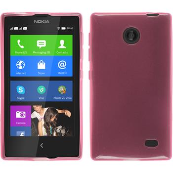 Silicone Case for Nokia X / X+ transparent pink