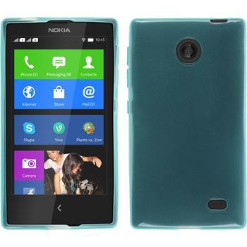 Silicone Case for Nokia X / X+ transparent turquoise