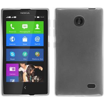 Silikonhülle für Nokia X / X+ transparent weiß