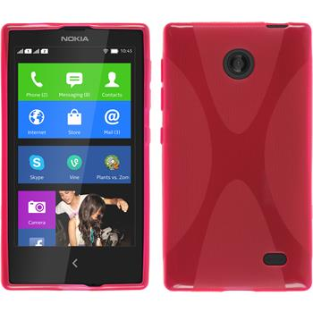 Silicone Case for Nokia X / X+ X-Style hot pink