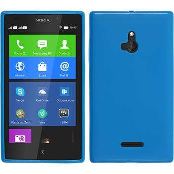 Silikon Hülle XL matt blau