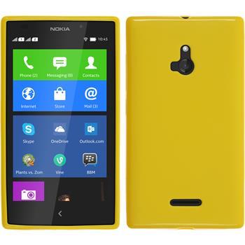 Silikonhülle für Nokia XL matt gelb
