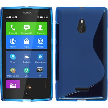 Silicone Case for Nokia XL S-Style blue