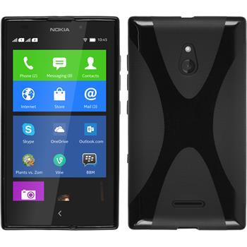 Silikon Hülle XL X-Style schwarz