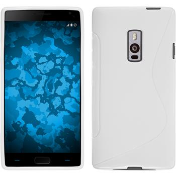 Silikon Hülle OnePlus 2 S-Style weiß