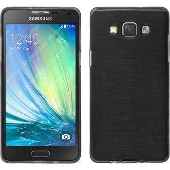 Silikon Hülle Galaxy A3 (A300) brushed silber + 2 Schutzfolien