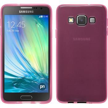 Silikon Hülle Galaxy A3 (A300) transparent rosa