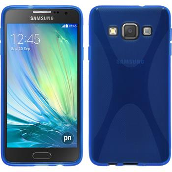 Silikon Hülle Galaxy A3 (A300) X-Style blau