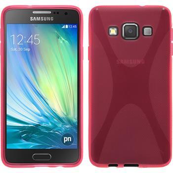 Silikon Hülle Galaxy A3 (A300) X-Style pink