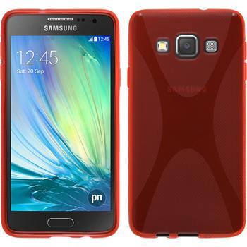 Silikonhülle für Samsung Galaxy A3 (A300) X-Style rot