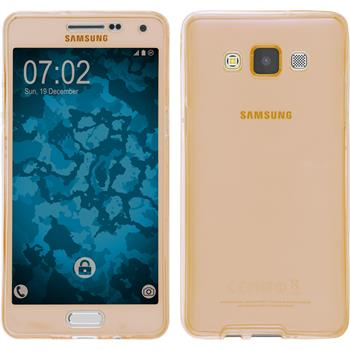 Silikon Hülle Galaxy A5 (A500) 360° Fullbody gold
