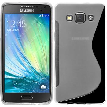 Silikon Hülle Galaxy A5 (A500) S-Style clear + 2 Schutzfolien