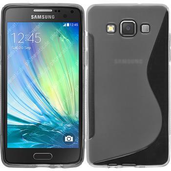 Silikon Hülle Galaxy A5 (A500) S-Style grau