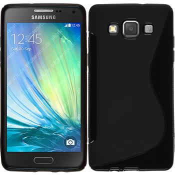 Silikon Hülle Galaxy A5 (A500) S-Style schwarz