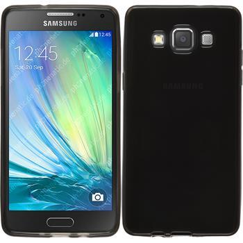 Silikon Hülle Galaxy A5 (A500) transparent schwarz