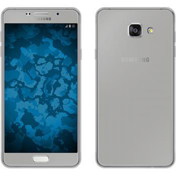 Silikon Hülle Galaxy A7 (2016) A710 360° Fullbody grau