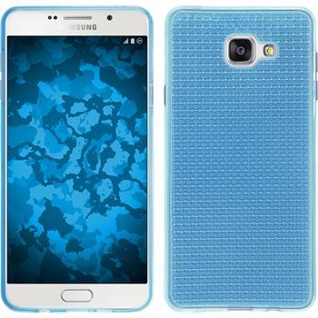 Silikon Hülle Galaxy A7 (2016) A710 Iced hellblau + 2 Schutzfolien