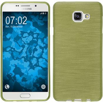 Silikon Hülle Galaxy A7 (2016) A710 brushed pastellgrün