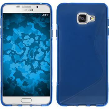 Silikon Hülle Galaxy A7 (2016) A710 S-Style blau