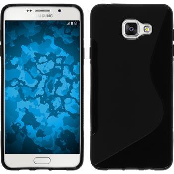 Silikon Hülle Galaxy A7 (2016) A710 S-Style schwarz
