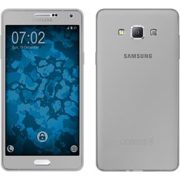 Silikon Hülle Galaxy A7 (A700) 360° Fullbody grau