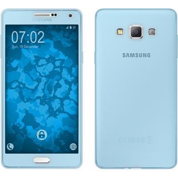 Silikon Hülle Galaxy A7 (A700) 360° Fullbody hellblau