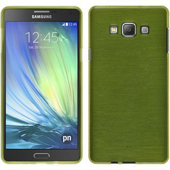 Silikon Hülle Galaxy A7 (A700) brushed pastellgrün